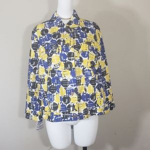 Ruby rd. Yellow/blue jacket size 16
